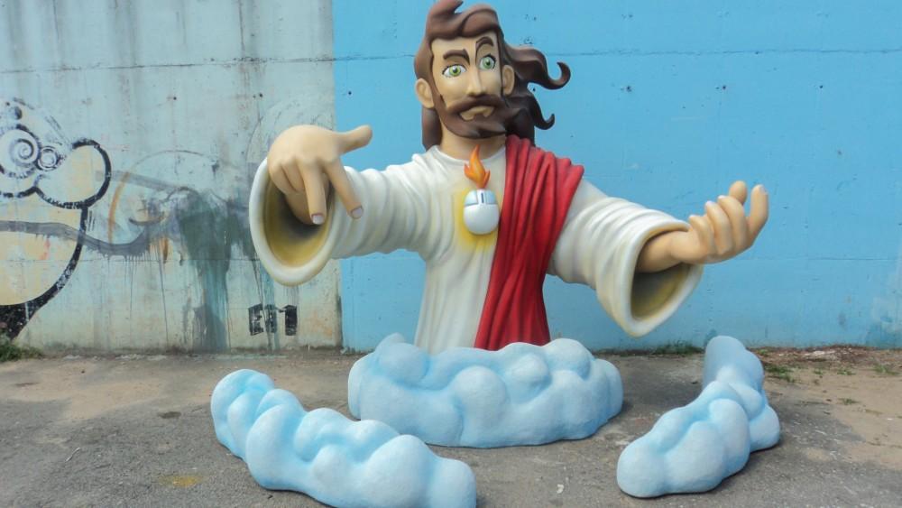 11- Escultura personagem Não Salvo para evento Risadaria  - 2012