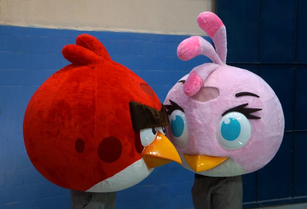 Personagens Angy Birds confeccionados para a TYCOON  360 - 2014 (2)