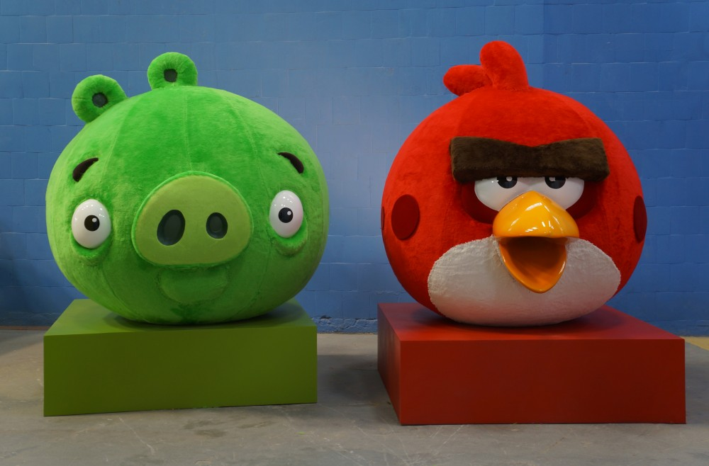 Totens Angry Bird feitos para decoração de natal temática - Shopping Tijuca - BR Malls - ROVIO  - 2014