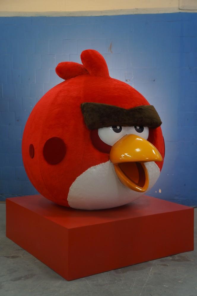 Totens Angry Bird feitos para decoração de natal temática - Shopping Tijuca - BR Malls - ROVIO  - 2014 (4)
